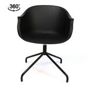 Scandinavische stoel May zwart draaibaar