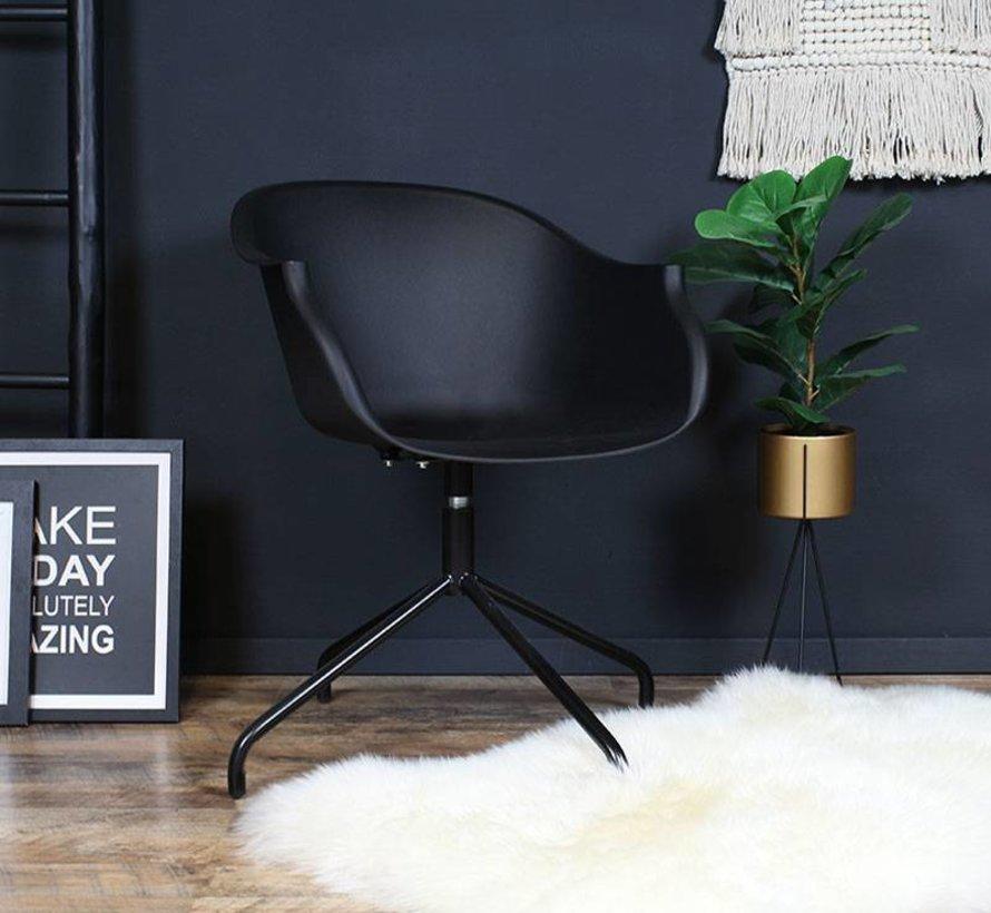 Scandinavische stoel May zwart 360° draaibaar
