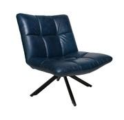 Bronx71 Industriële fauteuil Madi blauw leer
