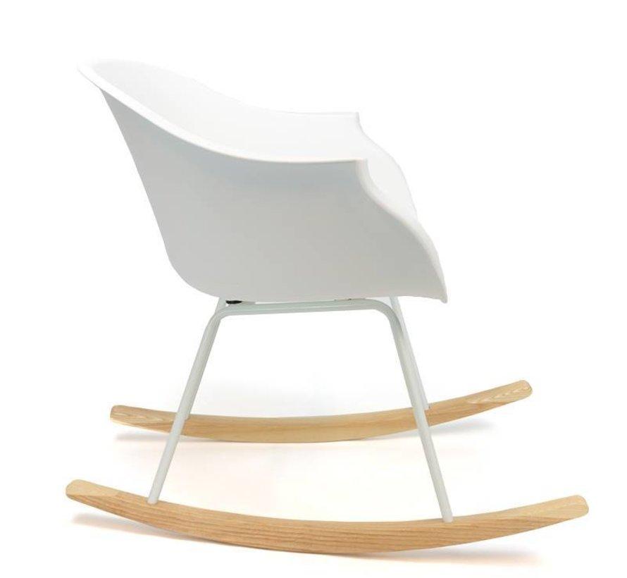 Schommelstoel Miami wit - Scandinavisch  design