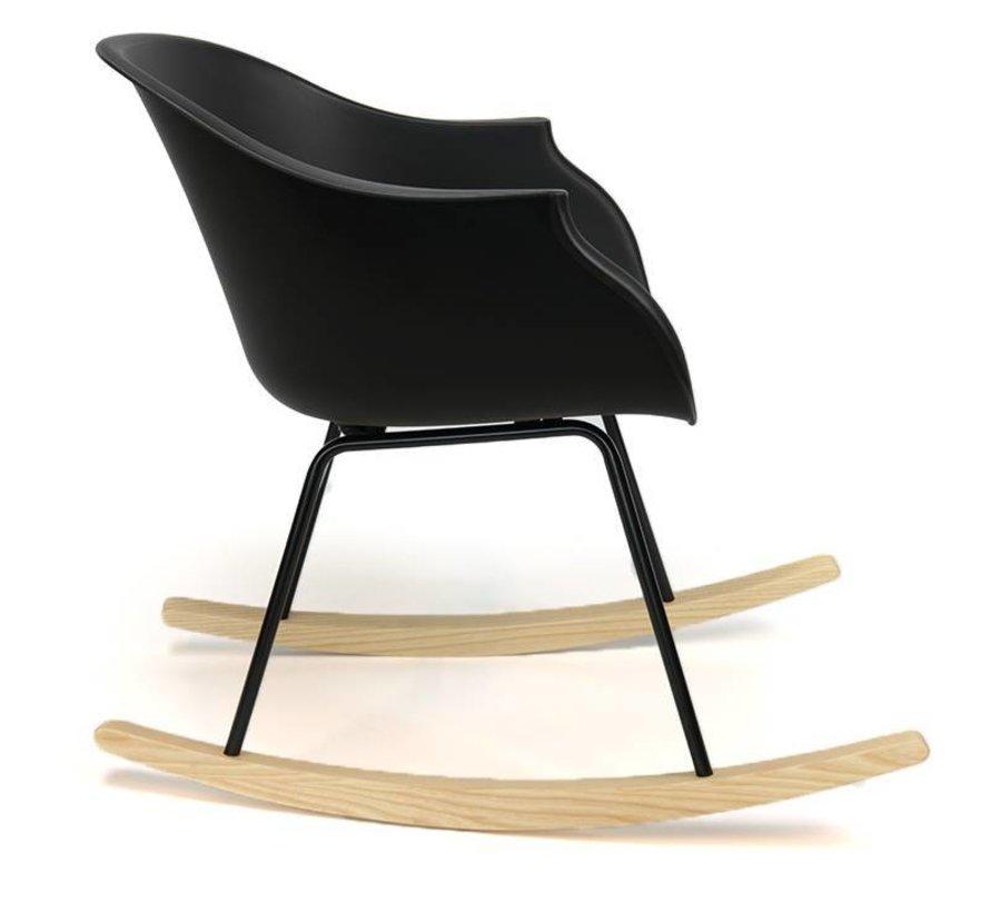 Schommelstoel Miami zwart  - Scandinavisch design