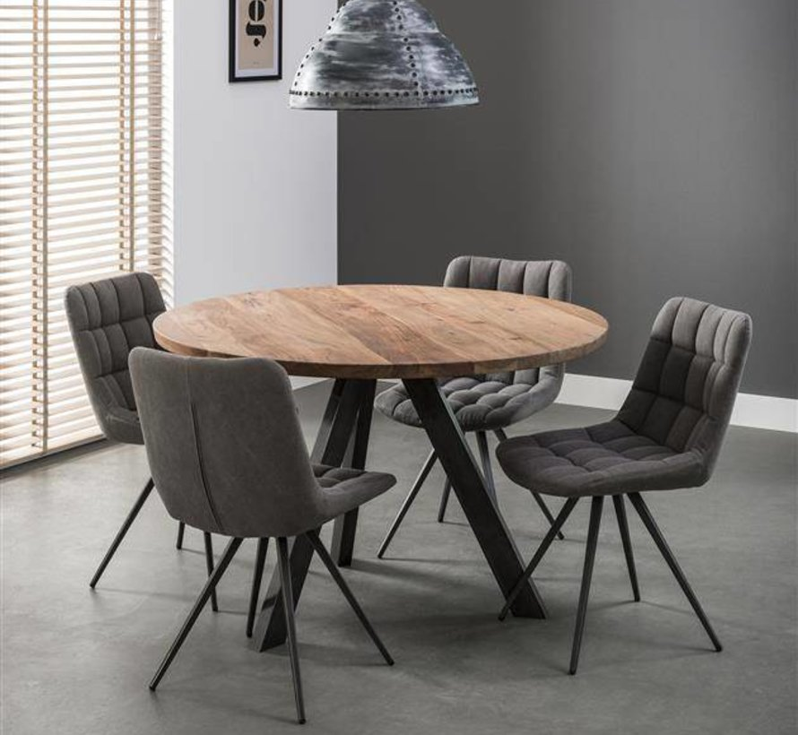Eettafel Lotte rond Acacia Ø120 cm