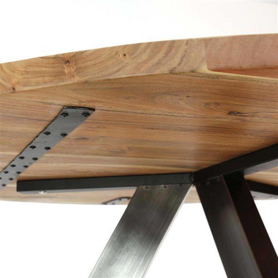 Eettafel Jill rond acaciahout Ø135 x 76 cm