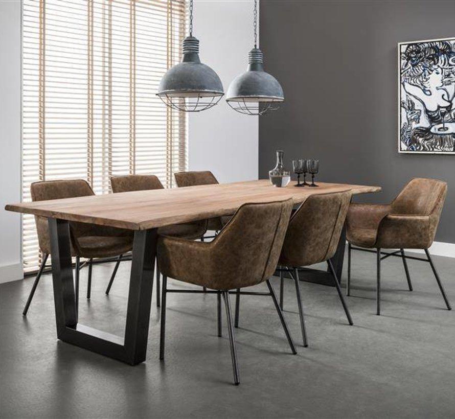 Eettafel Leon Acacia 240 x 100 x 77 cm