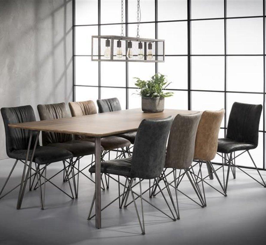 Eettafel 100 Cm.Industriele Eettafel Jens 240 X 100 Cm Labelwise