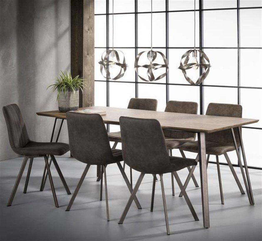 Eettafel MDF Jens 160 x 90 x 76 cm