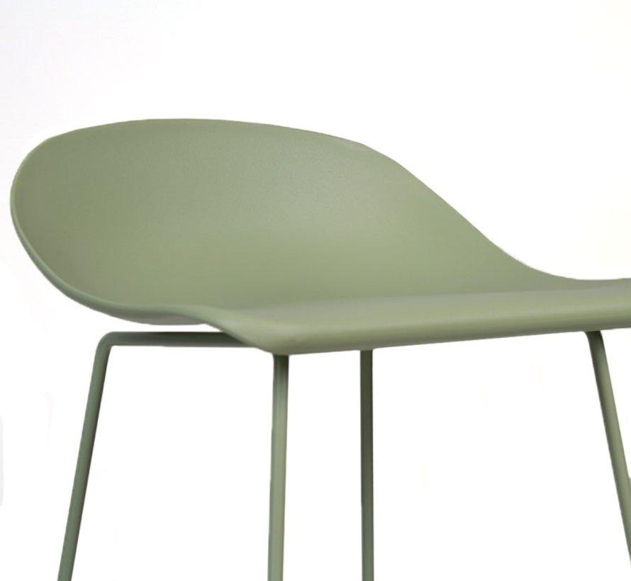 Barkruk Erica groen Scandinavisch design 76 cm
