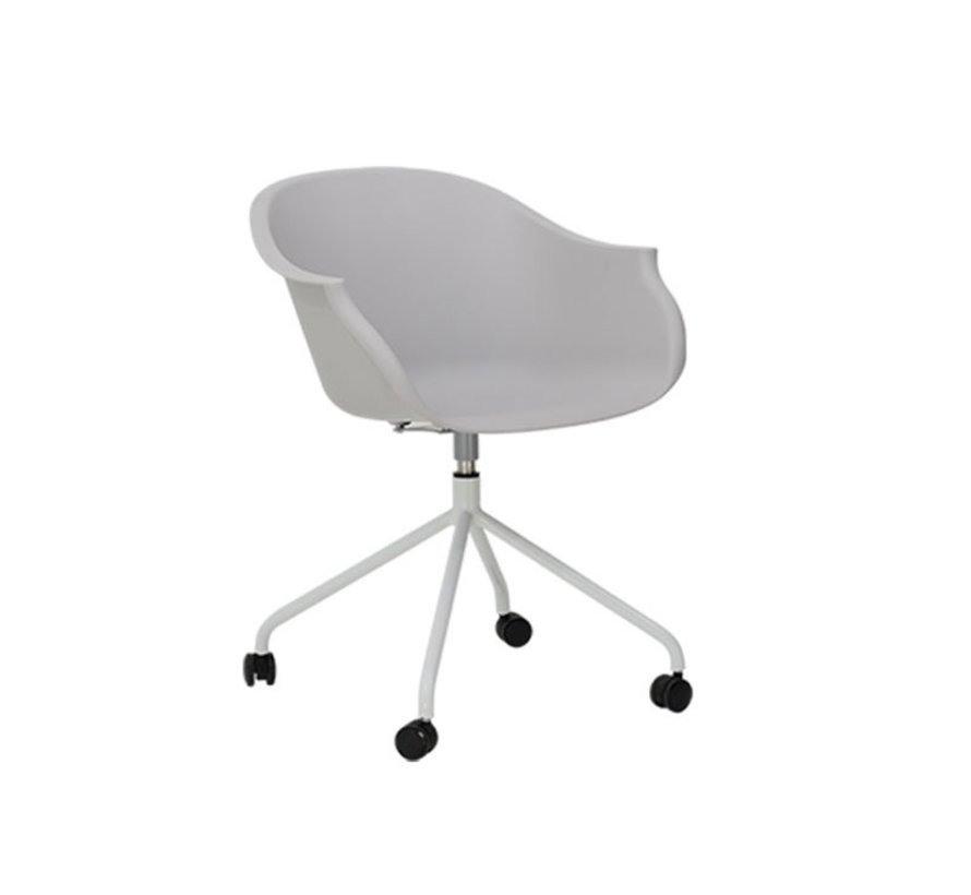 Scandinavische bureaustoel Floki wit 360° draaibaar