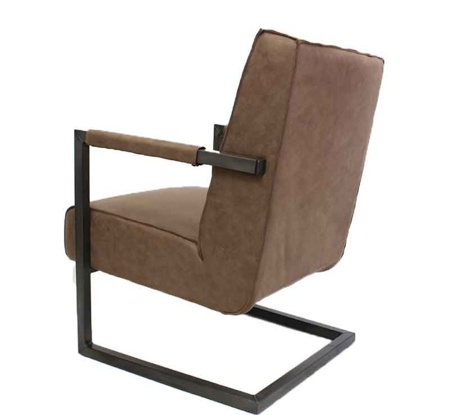 Fauteuil Bruce taupe eco-leer