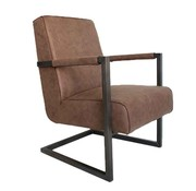 Fauteuil Bruce eco-leer taupe