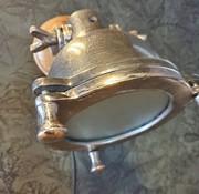 Wandlamp Austin mangohout metaal