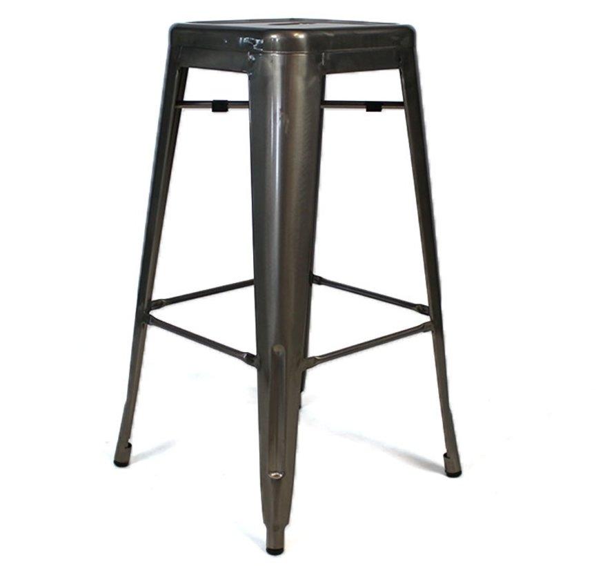 Stapelbare Retro café barkruk metaal 76 cm