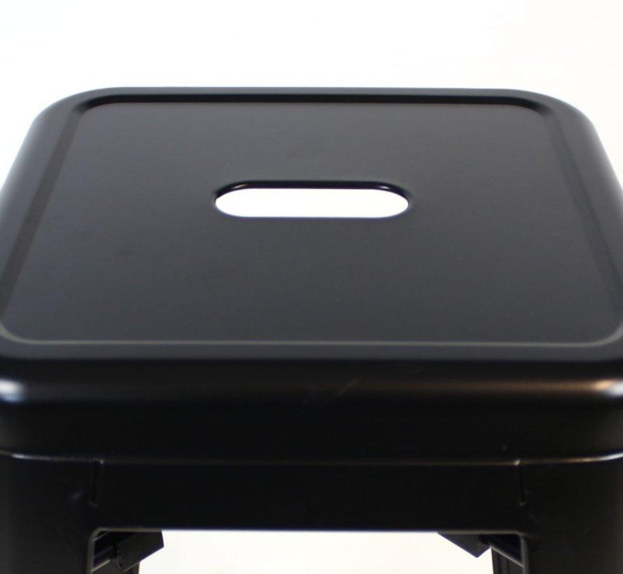 Stapelbare Retro café barkruk zwart 76 cm