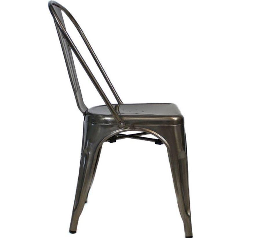 Stapelbare Horeca Retro café stoel metaal