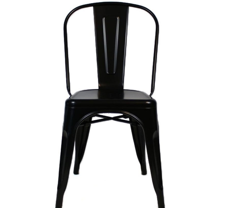 Retro café stoel zwart