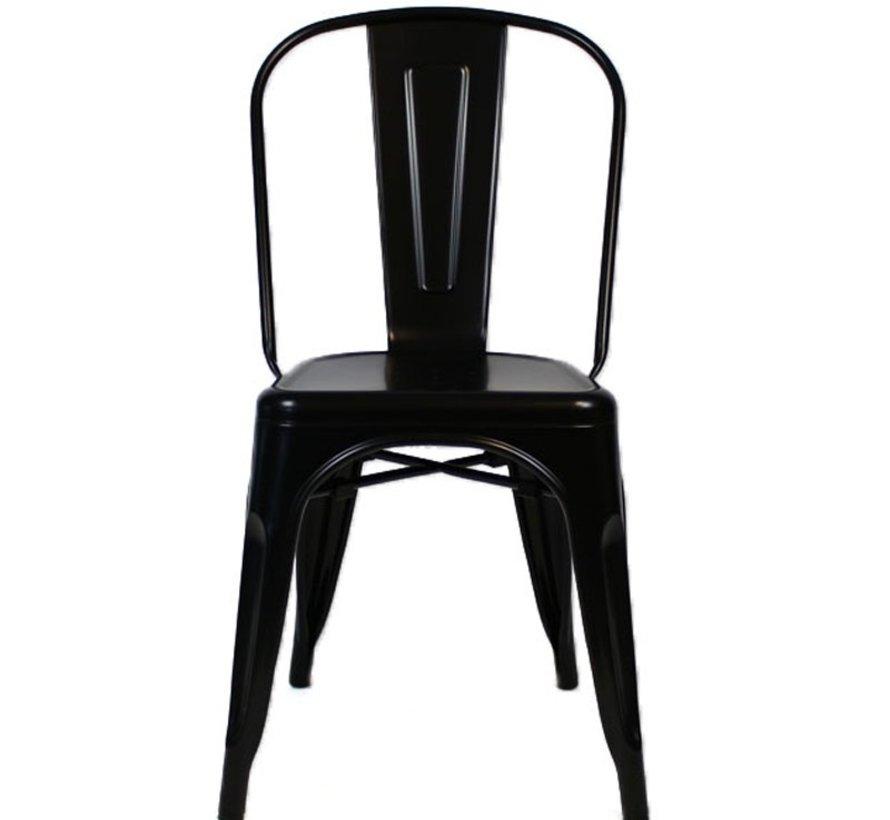 Stapelbare Horeca Retro café stoel zwart