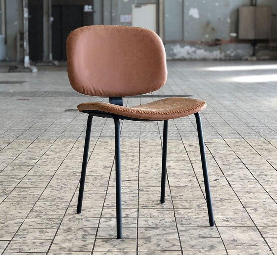 Industriële stoel Connect cognac leer