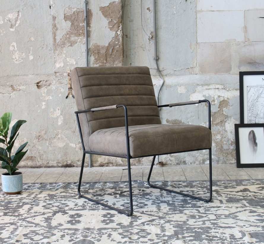 Fauteuil Sevilla taupe