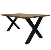 Massief eiken tafel 4cm Siem 240 x 100cm X-Poot