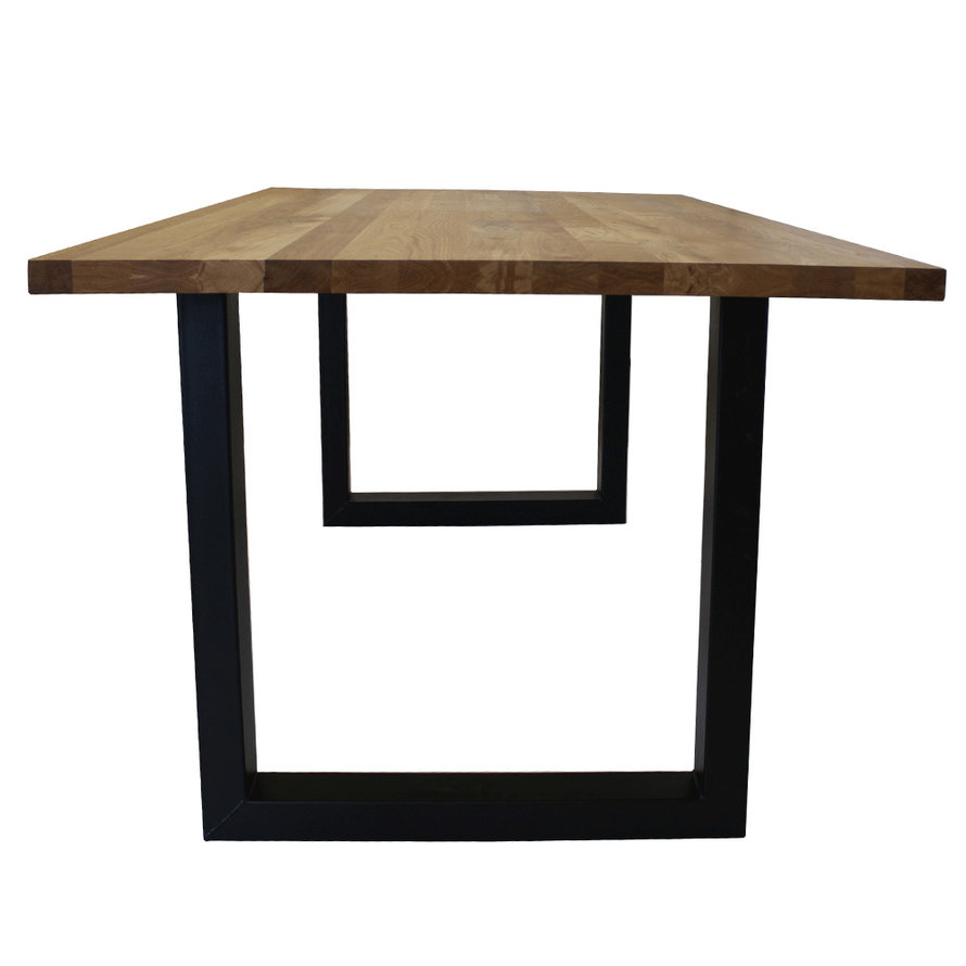 Massief eiken tafel Siem 180 x 90cm U-Poot