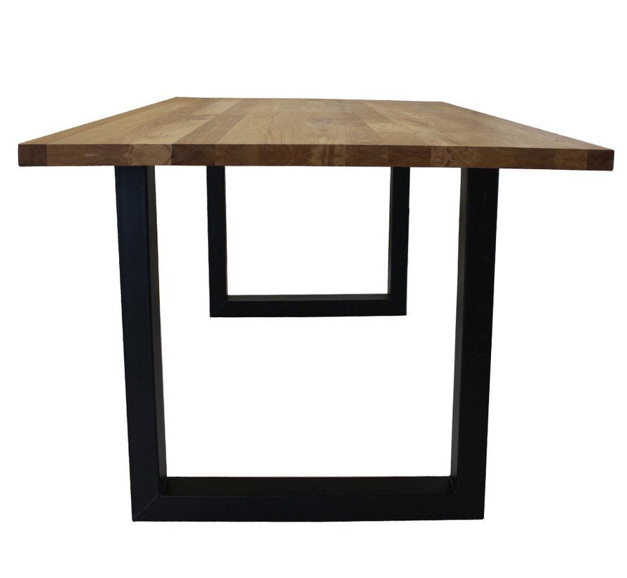 Massief eiken tafel 4cm Siem 200 x 100cm U-Poot