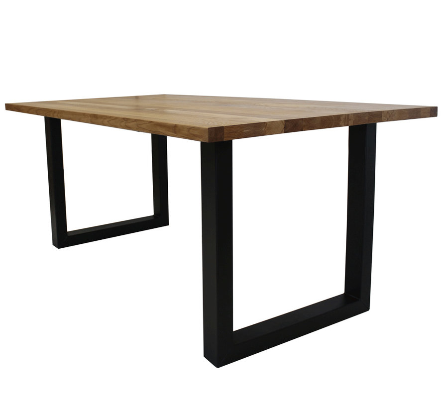 Massief eiken tafel 4cm Siem 220 x 100cm U-Poot