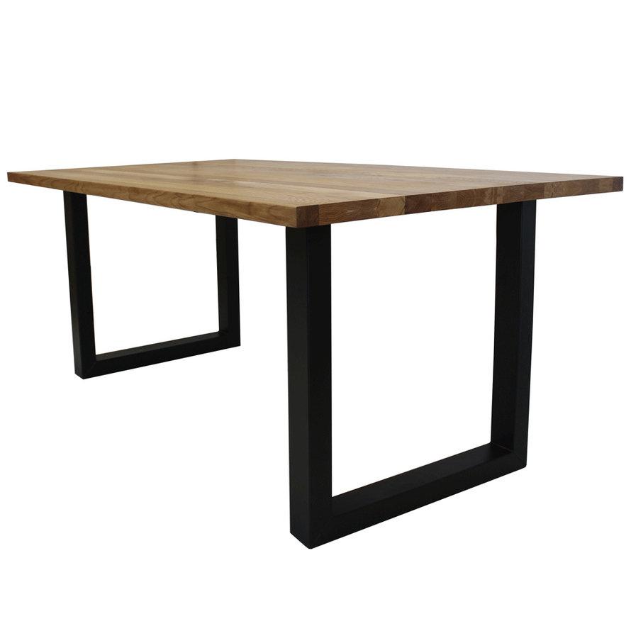 Massief eiken tafel Siem 220 x 100cm U-Poot