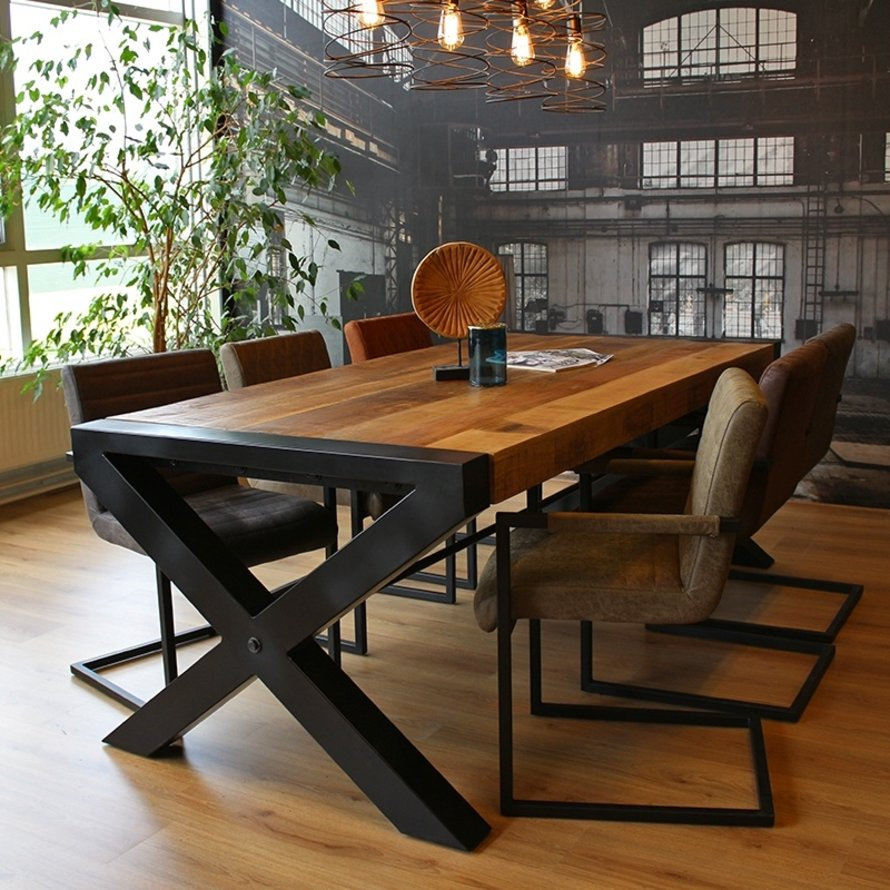 Eettafel Crossed Mango 180 x 90 x 79 cm