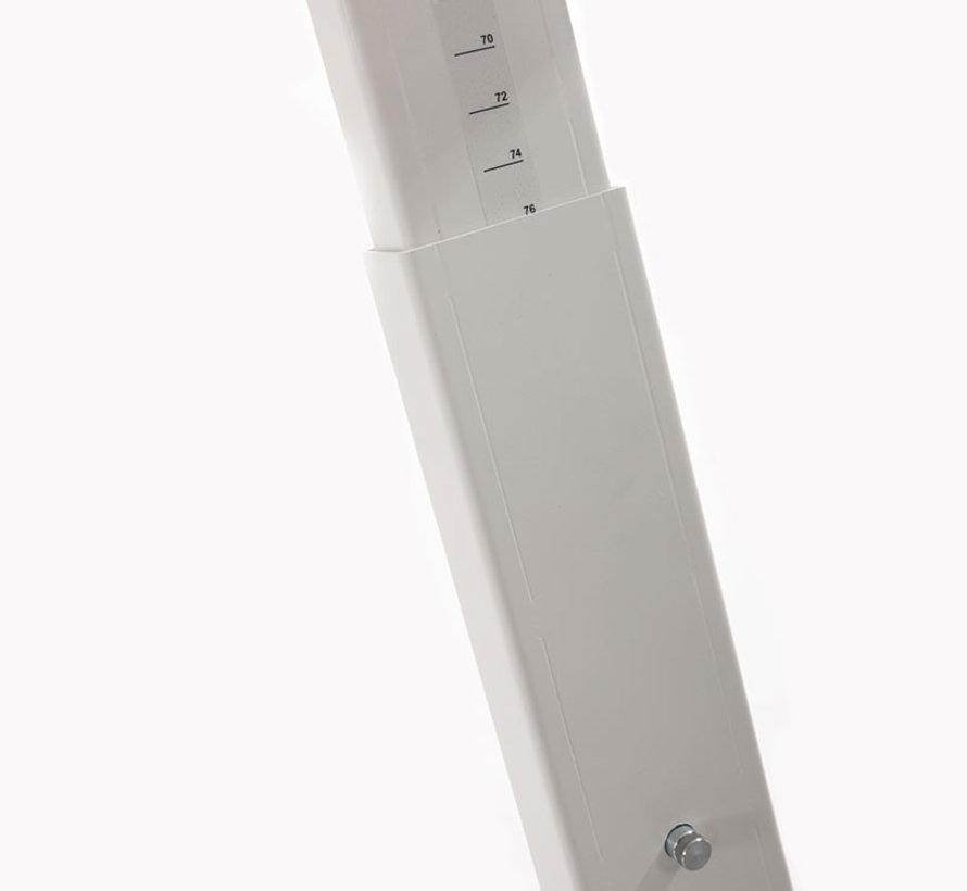 Bureau - in hoogte verstelbaar - 180x80cm - Wit
