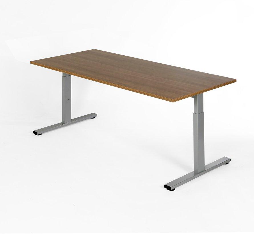 Bureau - in hoogte verstelbaar - 180x80cm - Noten