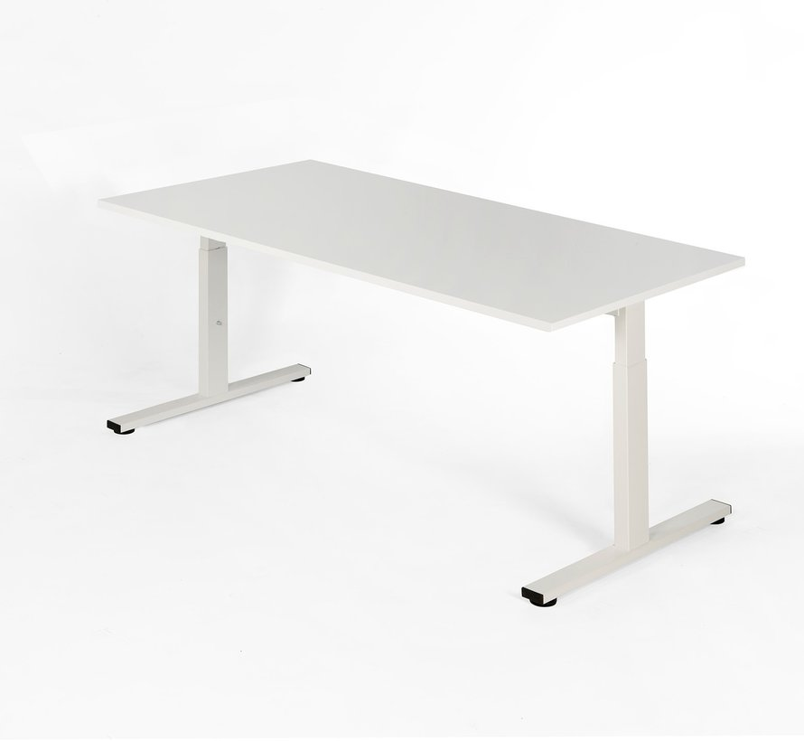 Bureau - in hoogte verstelbaar - 200x100cm - Wit