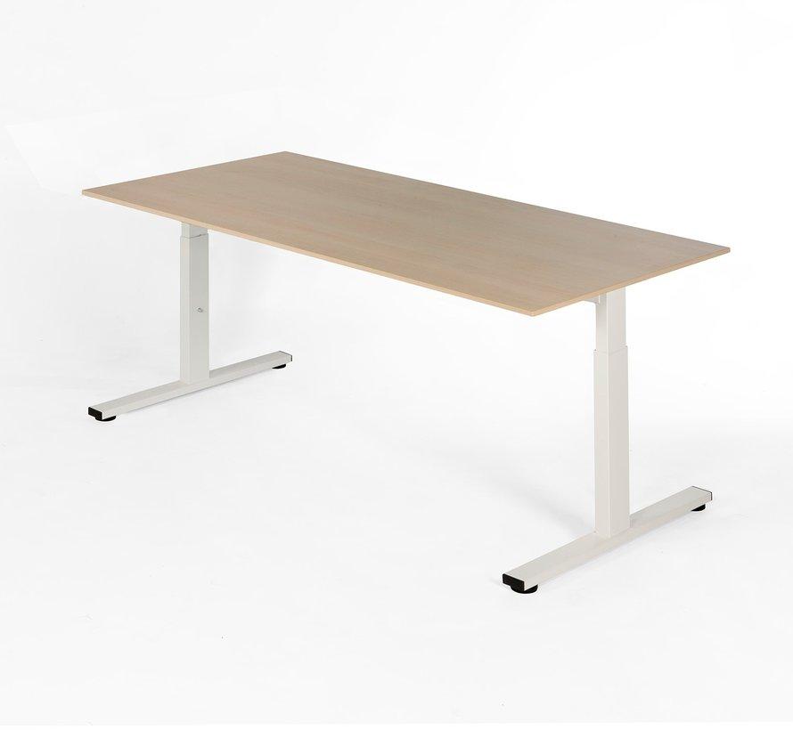 Bureau - in hoogte verstelbaar - 200x100cm - Noten