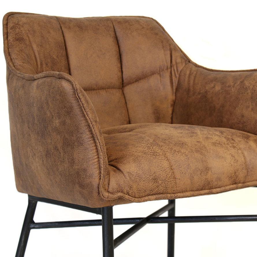 Horeca stoel Aaron microvezel  - Leatherlook cognac