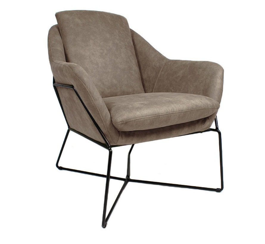 Fauteuil Valencia taupe - Op maat
