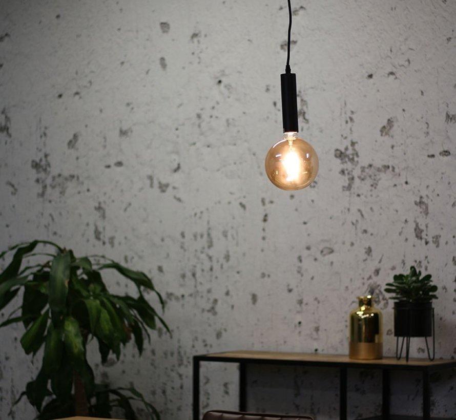 Hanglamp Single mat zwart - 1 Lamp