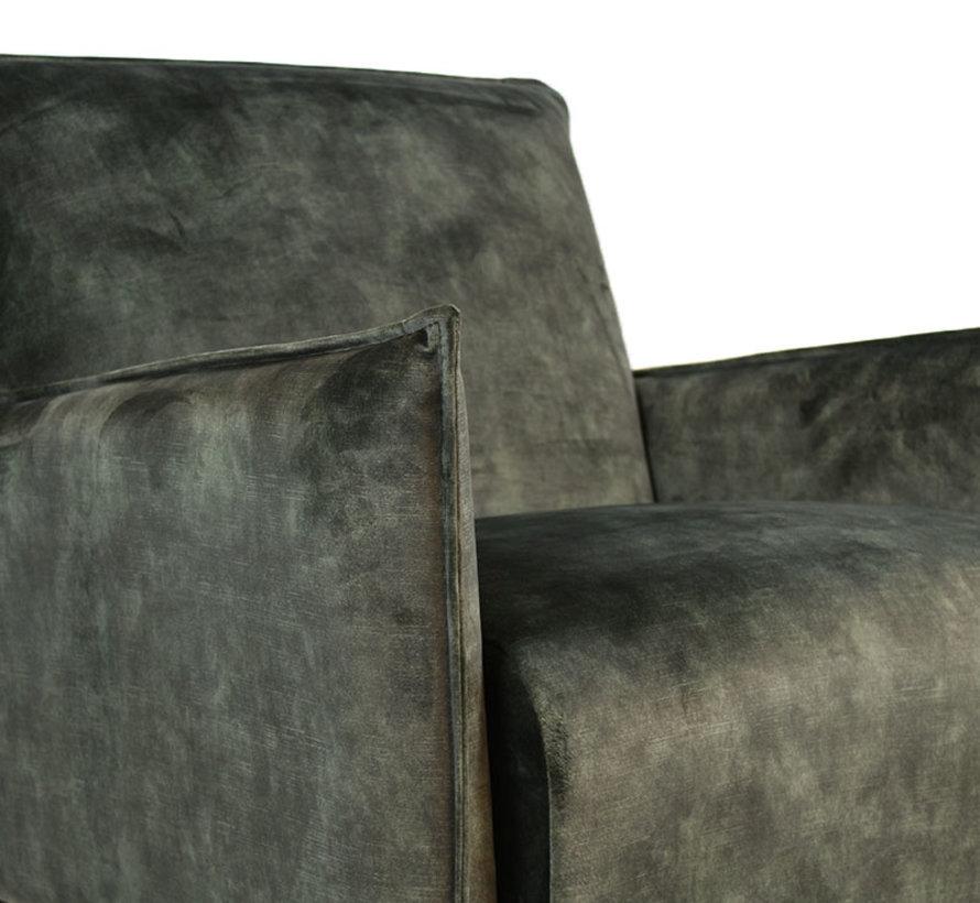 Fauteuil Mika Luxury velvet groen