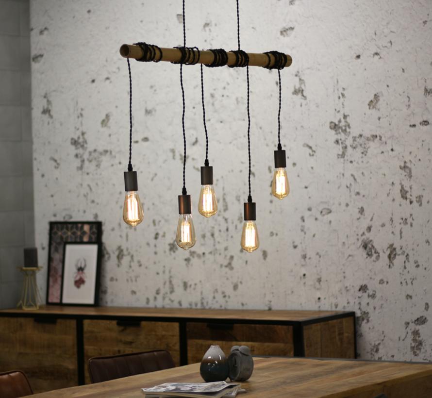Hanglamp Bamboe - 5 Lampen