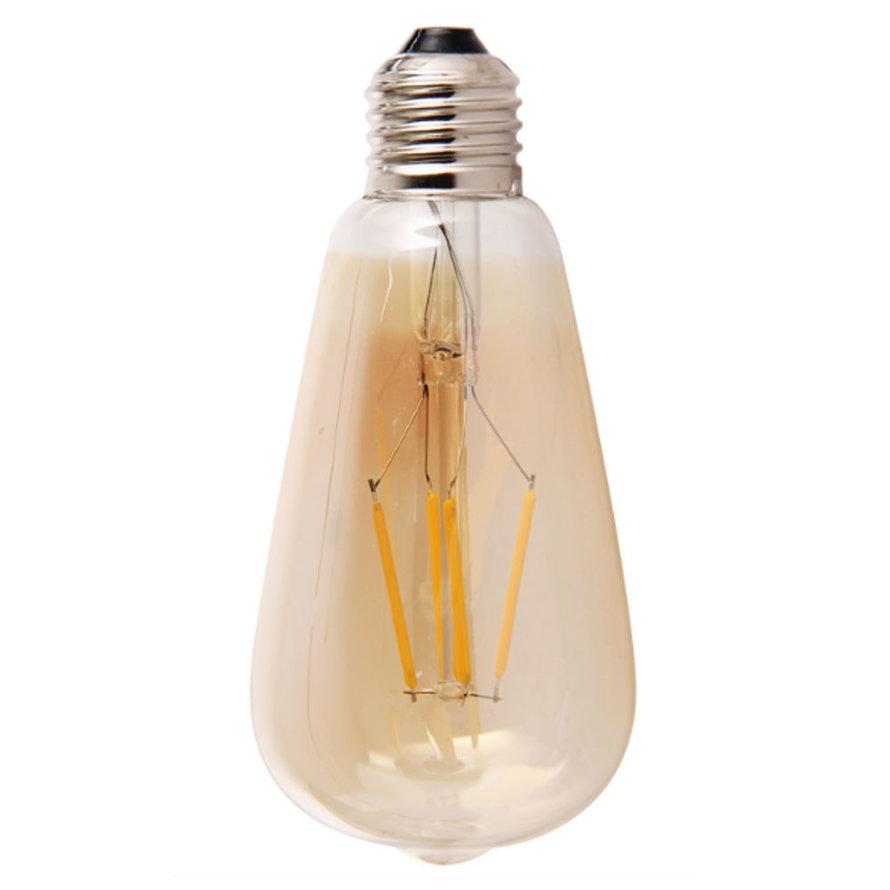 LED Lichtbron Druppel gold 14,5 cm dimbaar - 4 watt
