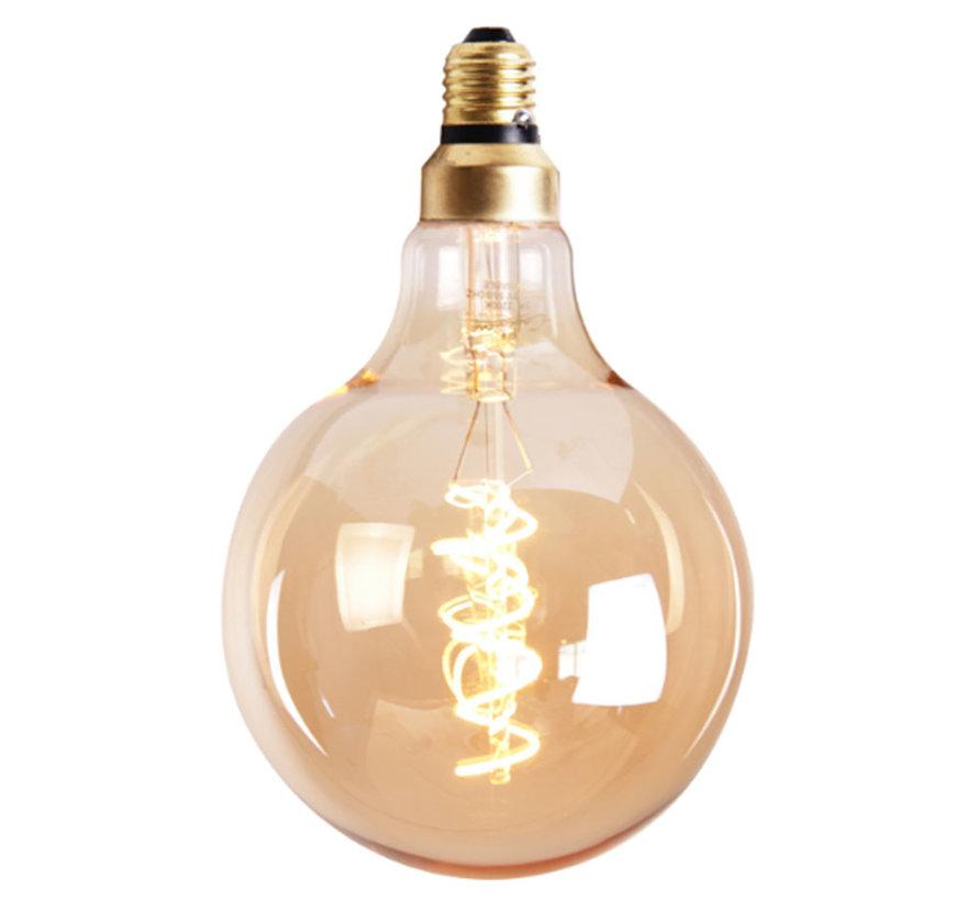 LED Lichtbron Round Gold Ø12,5 cm dimbaar - 5 watt