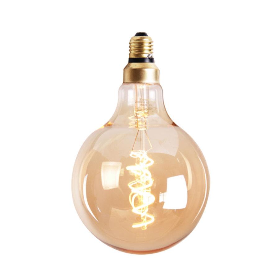 LED Lichtbron Round gold Ø9,5cm dimbaar - 5 watt