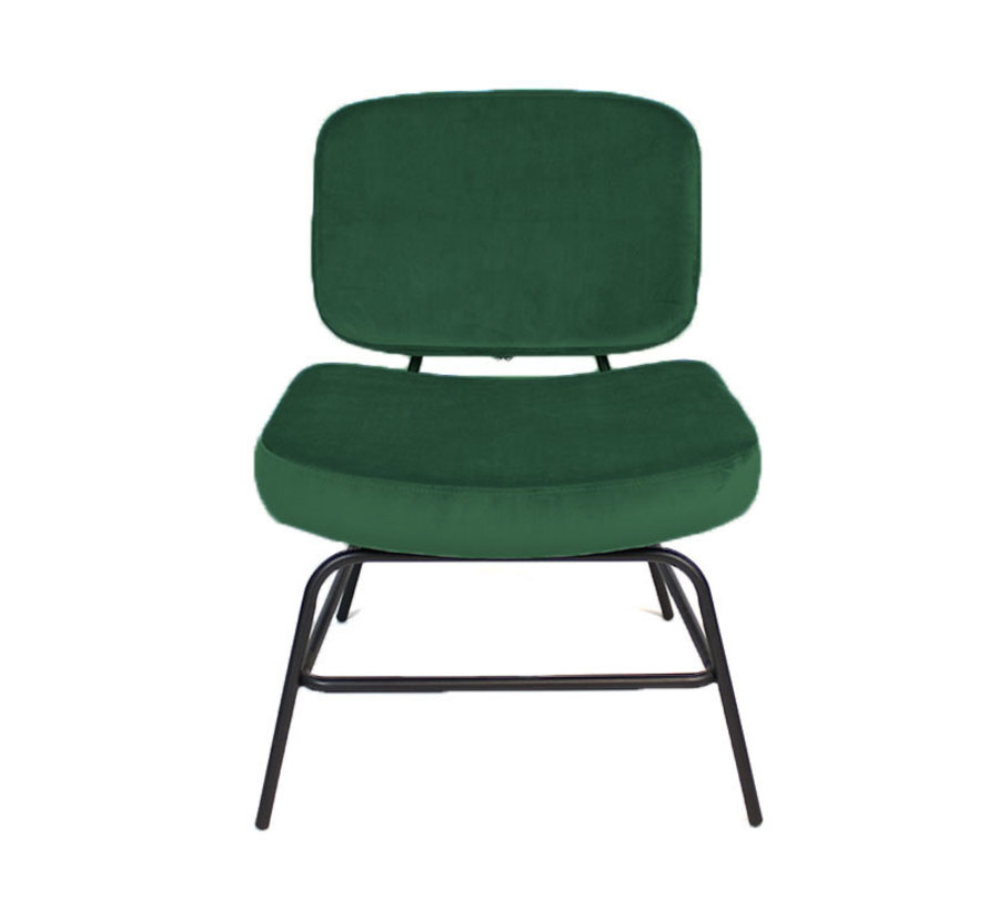 Fauteuil Eva - groen velvet