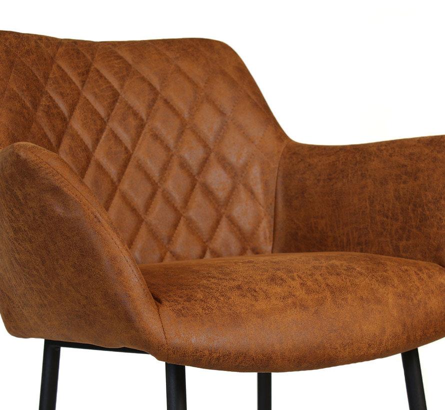 Horeca Barstoel Club cognac eco-leer 78 cm
