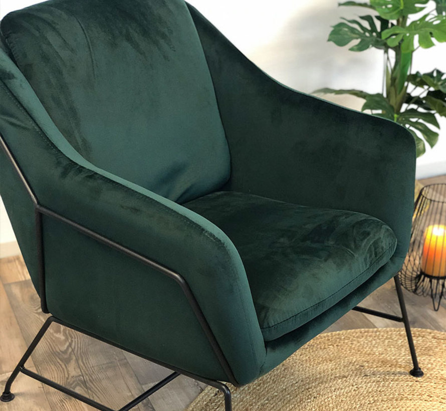 Fauteuil Sophie - groen velvet
