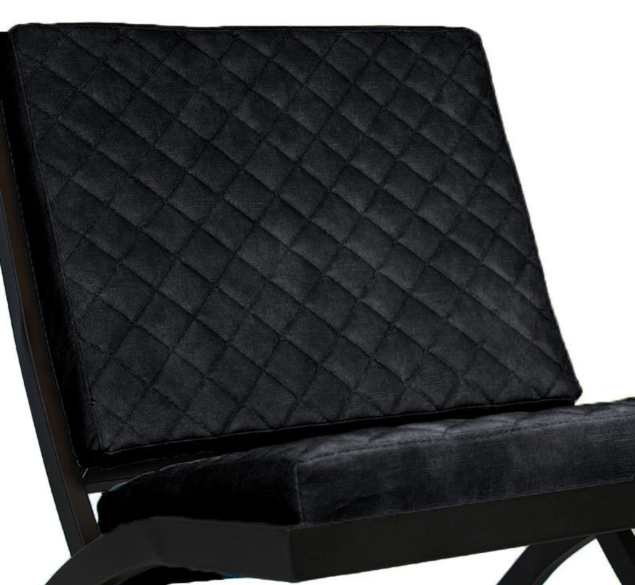 Design fauteuil Madrid velvet antraciet