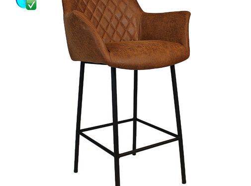 Bronx71 Barstoel Club cognac leer 78 cm