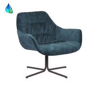 Bronx71 Velvet fauteuil Lizzy donkerblauw