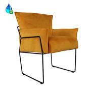 Bronx71 Velvet fauteuil Lasse okergeel