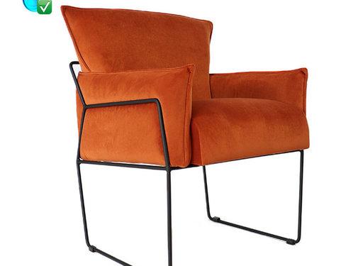 Bronx71 Velvet fauteuil Lasse koper