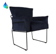 Bronx71 Velvet fauteuil Lasse blauw