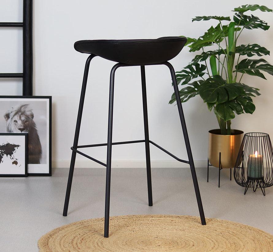 Horeca barkruk Minimal PU leer zwart 77 cm